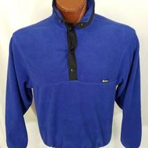 WOOLRICH T-Snap Fleece Pullover Blue Unisex M Medium Made In USA - $29.00