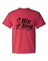 Big Boy Diner T-shirt retro 1980's distressed logo heather red 50/50 graphic tee image 2