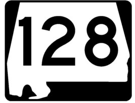 Alabama State Route 128 Sticker R4524 Highway Sign Road Sign Decal - $1.45+