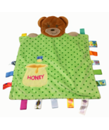 Taggies Teddy Bear Honey Pot Bee Green Polka Dot Baby Security Blanket P... - $39.00