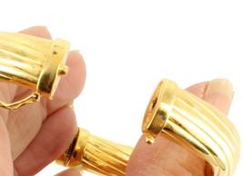 "VINTAGE STERLING GOLD VERMEIL 11MM THICK SUBSTANTIAL BANGLE BRACELET ITALY 7"" image 2"