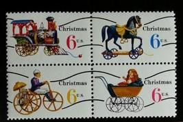 1970 6c Christmas Toys, Block of 4 Scott 1415-18a Mint F/VF NH - $1.47