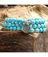 MOON GIRL Lotus Chakra Fashion Wrist Bracelets 2-3 Layers Men's Bracelet... - $10.77