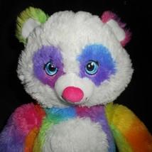 "18"" Build a Bear Pop Of Color Rosa Arcoiris Panda Osito Peluche Plush Toy image 2"