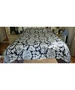 Williams Sonoma GINGER JAR Duvet Cover QUEEN Printed Linen Dark Blue NWO... - $179.00