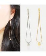 Long Ball Drop Dangle Earrings Brass Women Fashion Item Everyday Ear - $18.99