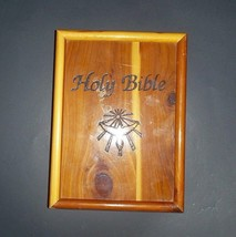 Beautiful Cedar Bible box w/ Dove Union Made Stamped ** Please Make An O... - $16.74