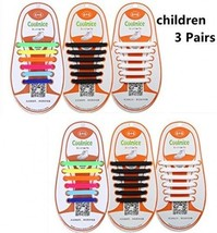 3 Pairs COOLNICE The Elastic Tie-free And Wash-free Silicone Shoelaces F... - $30.40