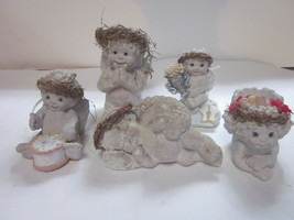 5 VINTAGE DREAMSICLES FIGURES AND CANDLE HOLDERS ALL SHOWN - $9.99