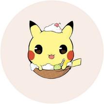 """Pokemon Anime Pikachu 15.7"""" Micro-suede Fabri Round Pillow Cushion #41353 - $249,86 MXN"""