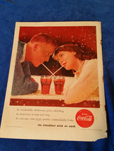 "1956 Original Coca Cola Magazine ad Date Night 10 1/2""x14"" - $17.05"