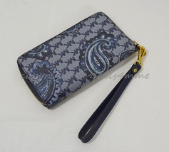 NEW Michael Kors Paisley Jet Set Large Multi-Function Phone Wallet in Navy - $99.00