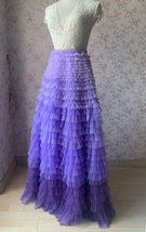 TIERED Tulle Skirt Wedding Tulle Outfit Women Plus Size Layered Long Tutu Skirt  image 2