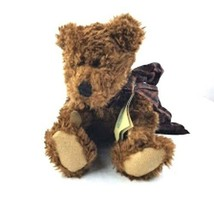 "Boyds Bears Plush Teddy Bear Burke Jointed Stuffed Animal 13"" Plaid Ribb... - $14.84"