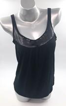 Talbots Tank Top Size XS Black Sequin Detail Neck Sleeveless Cami Womens - $11.09
