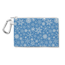 Snow Flakes Canvas Zip Pouch - $15.99+