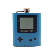Gameboy Color - Blue Custom Flask Canteen Collectible Gift Video Games Nintendo - $25.00