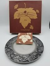 "Longaberger Falling Leaves 8"" Metal Candle Plate 77321 - $7.42"