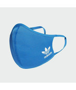 100% Authentic 3-Pack Adidas Face Mask Cover Protection Blue Bird H32391... - $49.49