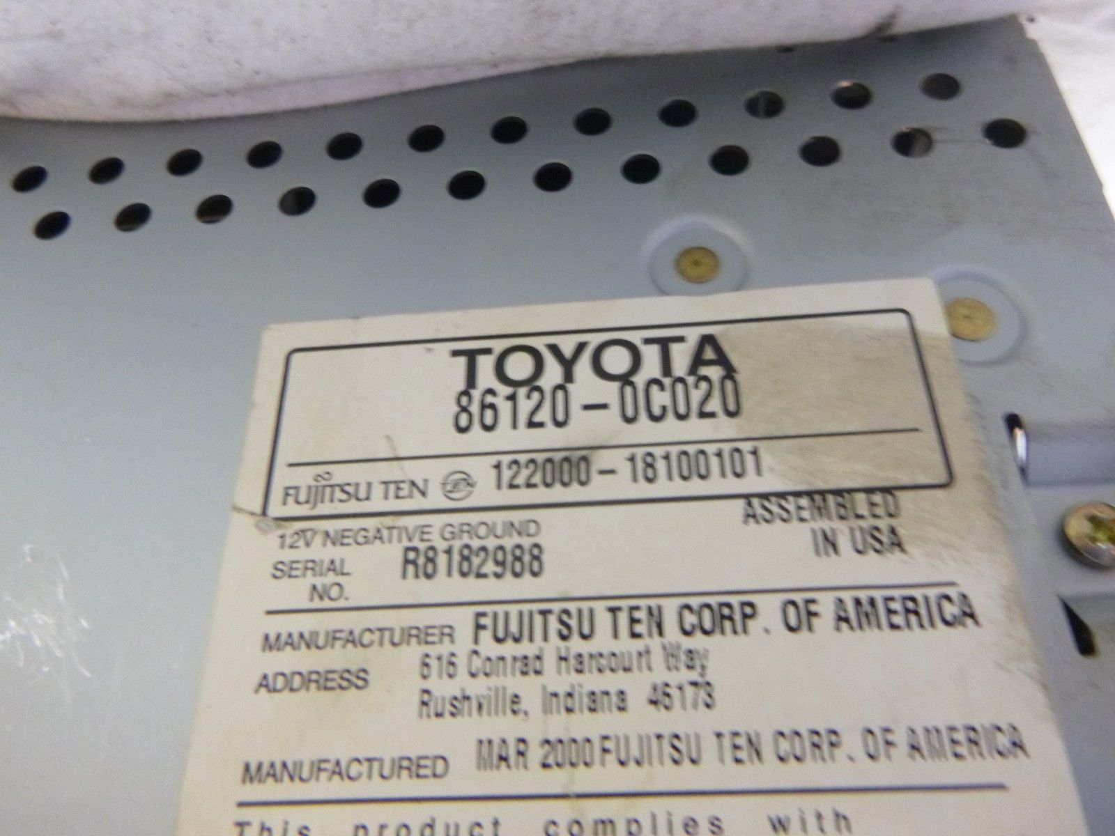 Toyota Factory Radio Single Disc Cd Cassette and 50 similar items
