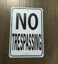 "18"" NO Trespassing Home Fence 3d cutout retro USA STEEL plate display ad... - $57.82"