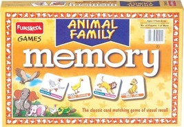 Funskool Animal Families Memory Educational Games Players 2-4 Age 6+ - $10.16
