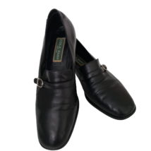 Cole Haan Womens Pumps Shoes 9.5 B Black Leather Upper Sole Buckle Accent - $29.70