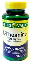 Spring Valley L-Theanine 100 Mg-Capsule Supplement 100 Capsules (Pack of 2) - $24.70