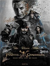 Pirates of the Caribbean : Dead Men Tell No Tales Autographed Movie Poster - $165.00