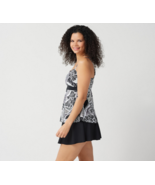 Denim & Co. Sweetheart Tankini with Skirt in Black Paisley,Size 12 - $24.74