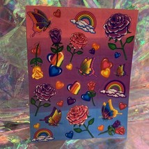 EXCELLENT Condition Vintage 90s Lisa Frank Roses Rainbows Hearts S142 MINT image 1