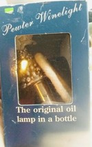 "PEWTER CHRISTMAS TREE WINELIGHT ""THE ORIGINAL OIL LAMP IN A BOTTLE"" BRAND  - $9.87"
