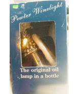 """PEWTER CHRISTMAS TREE WINELIGHT """"THE ORIGINAL OIL LAMP IN A BOTTLE"""" BRAND  - $9.87"""