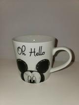 Disney Mickey Mouse OH HELLO Coffee Tea Mug 90 Years Of Magic Peeking NEW - $19.79