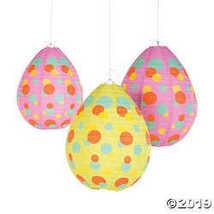 Easter Egg-Shaped Hanging Paper Lanterns - $12.49