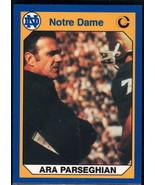 1990 Collegiate Collection Notre Dame #50 Ara Parseghian NM Near Mint - $0.75