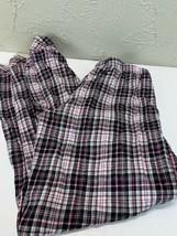 Victorias Secret Pajama Pants Pink Black White Plaid Elastic Waist Size ... - $18.66