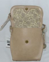 Simply Noelle Brand Tan Taupe Color Floral Leaf Pattern Womens Purse image 6