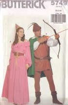 Butterick Pattern - Misses'/Men's Costume - Sizes XS-M - 5749A - $12.86