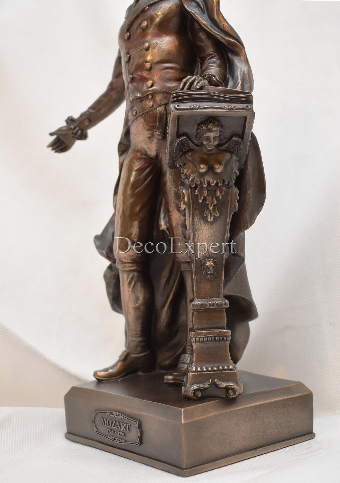 Wolfgang Amadeus Mozart - Bronze Sculpture *** Free Air Shipping Everywhere ***