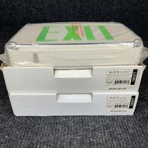 Lot of 2 Lithonia Lightning WLTEW1GX2 Green Letters Dual AC Exit Wet Loc... - $116.88