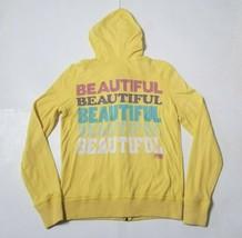 Victorias Secret PINK Womens Medium Hoodie Jacket Full Zip Sweatshirt Ye... - $17.99