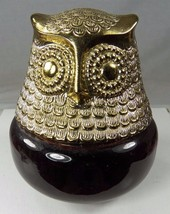Vintage 1970s AVON Owl Cologne Gel Raining Violets Full Bottle No Box - $12.35