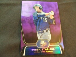 2012 Bowman Platinum Prospects Purple Refractor #BPP100 Bubba Starling K... - $3.12