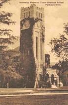 Shumway Tower Shattuck School Faribault Minnesota sepia postcard - $6.44