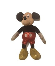 """Disney's MICKEY MOUSE Plush Stuffed Animal Toy Doll No Tag 14"""" Red Black... - $5.90"""