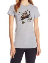 Small 2-4 Dakine Women's Short Sleeve T-Shirt Tee Shirt Heathered Grey Foxes