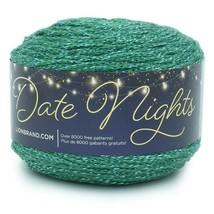 Lion Brand Date Nights Yarn in Malachite, Medium 4 Weight