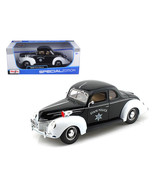 1939 Ford Deluxe Police 1/18 Diecast Model Car by Maisto 31366 - $48.61
