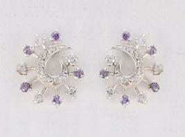 enticing Multi CZ 925 Sterling Silver Multi Natural gemstone CA gift - $13.27